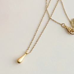 WATERDROP GOLD NECKLACE